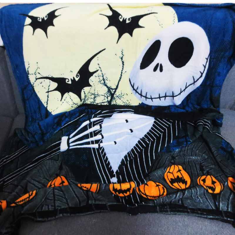 The Nightmare Before Christmas Blankets Cartoon Large Coral Fleece ...