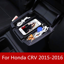 for Honda CRV 2015-2016 Car Central Console Armrest Box Storage Container Organizer Holder Case Tray