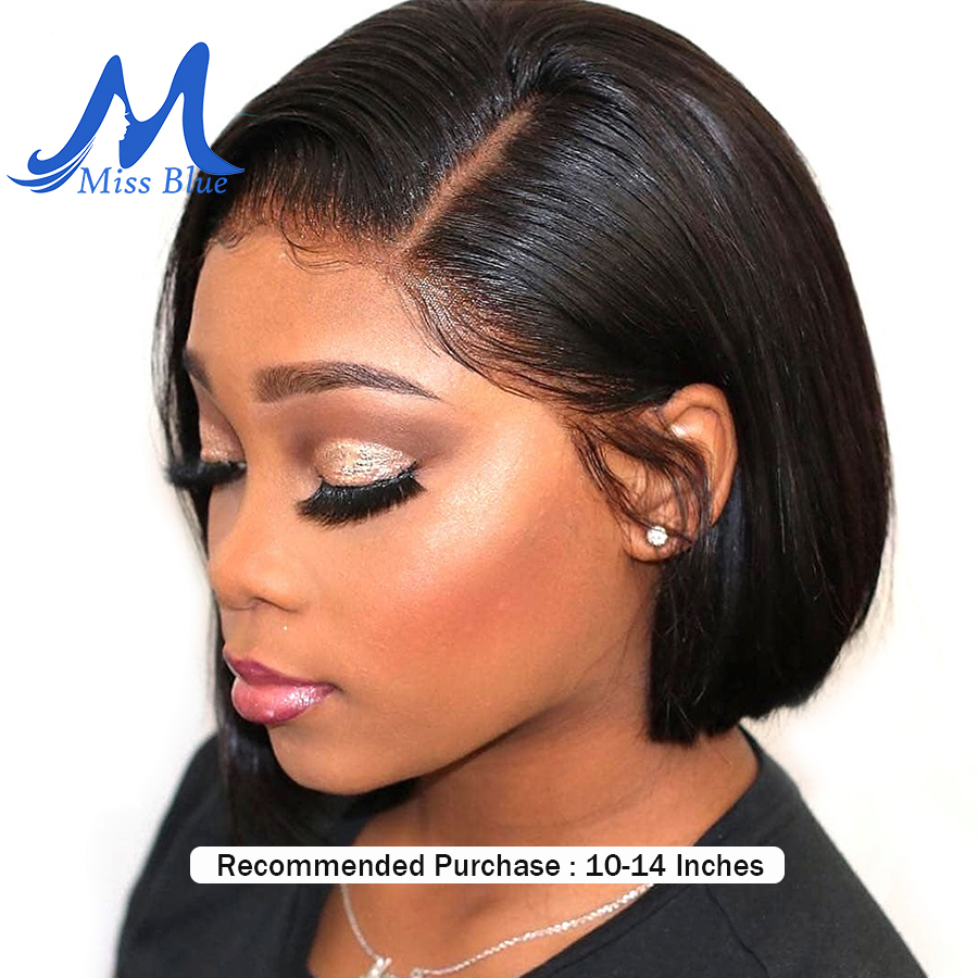 Short Lace Front Human Hair Wigs For Black Women Straight Brazilian Remy Hair Ombre Short Bob