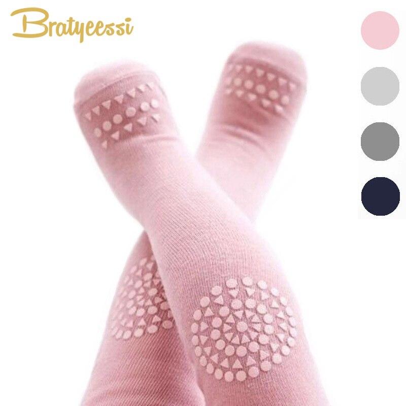 Fashion Cotton Children Tights for Girls Boys Anti Slip Crawl Kids Pantyhose Knee Protector font b