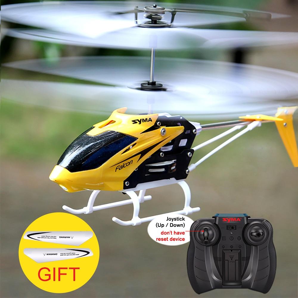 W25 Oficial Syma RC Helicóptero 2 CH 2 Canal Mini RC Zangão com Giroscópio Resistente Acidente RC Brinquedos Para Menino Caçoa o Presente Vermelho Amarelo