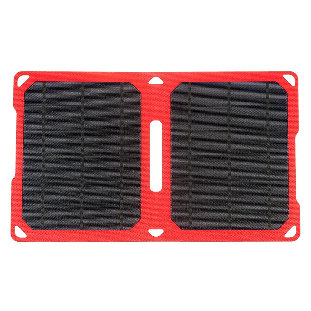 PowerGreen pliant 10 Watts ETFE panneau de chargeur solaire 5 V 2A monocristallin silicium batterie externe solaire mobile pour Apple & Andriod