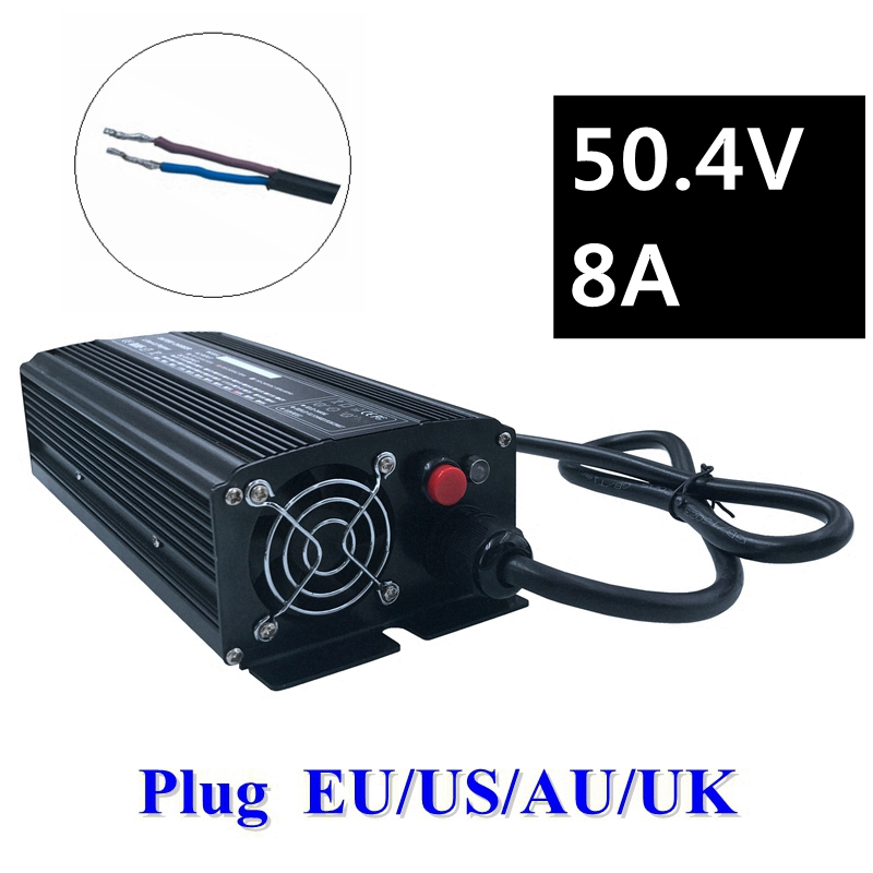 672W 50.4V 8A Charger 44.4V Lithium li-ion Charger for 12S Lithium battery pack Li-ion Polymer Scooter E-bike ebike High quality цена