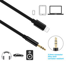 Lightning to Aux 3.5mm Female Cable Car AUX Adapter Audio AUX Male Cable 1M Headphone For Apple iPhone 6/6s/6sPlus/7/8/7 Plus/Xr цена 2017