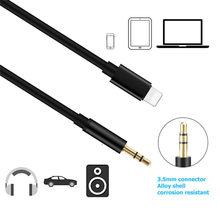 Lightning to Aux 3.5mm Female Cable Car AUX Adapter Audio AUX Male Cable 1M Headphone For Apple iPhone 6/6s/6sPlus/7/8/7 Plus/Xr(China)