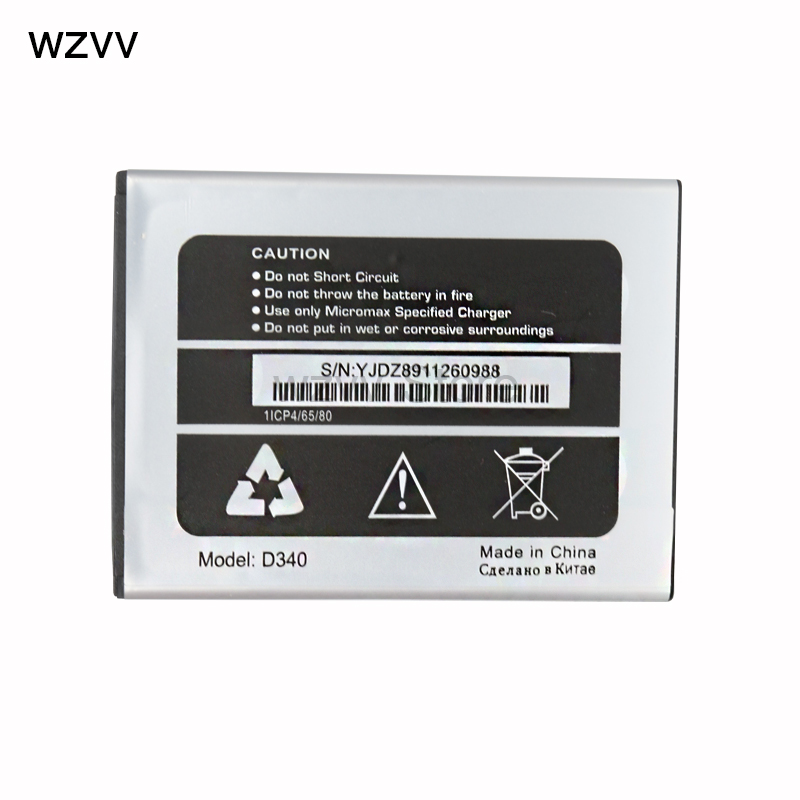 wzvv New 100% High Quality 2500mAh Battery for Micromax D340 + Tracking Code