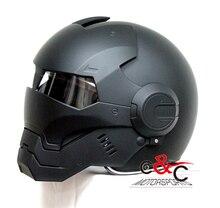 Envío gratis El Hombre de Hierro vengadores cascos Masei cráneo casco vintage moto rcycle cascos capacete moto simpson casco bettern