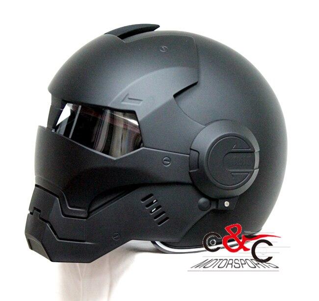 Livraison gratuite The Avengers Iron Man casques Masei crâne casque vintage moto rcycle casques capacete moto simpson casque bettern