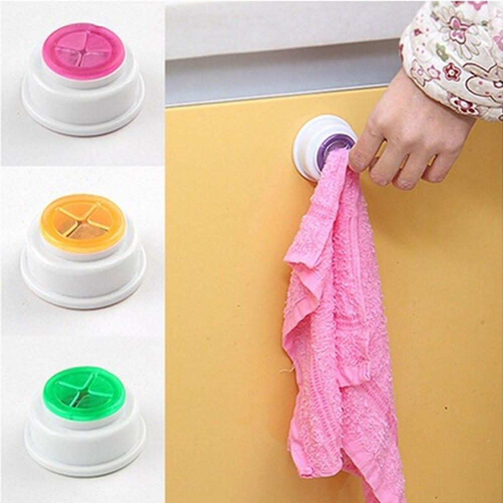 2PCS Bathroom Storage Wash Cloth Towel Clip Kitchen Towel Wall ...