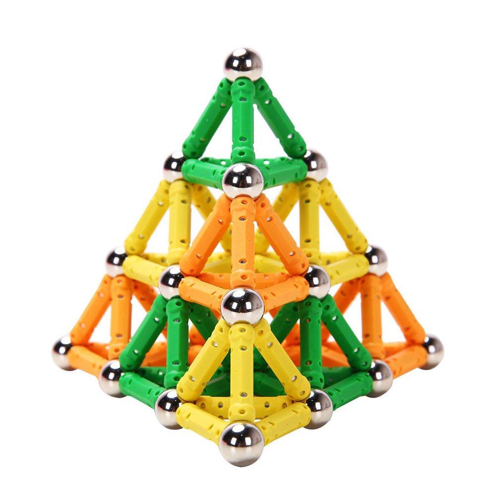 100pcs Magnet Toy Sticks & Metal Balls Magnetic Building Blocks Construction Toys For Children Designer Educational Toy For Kids