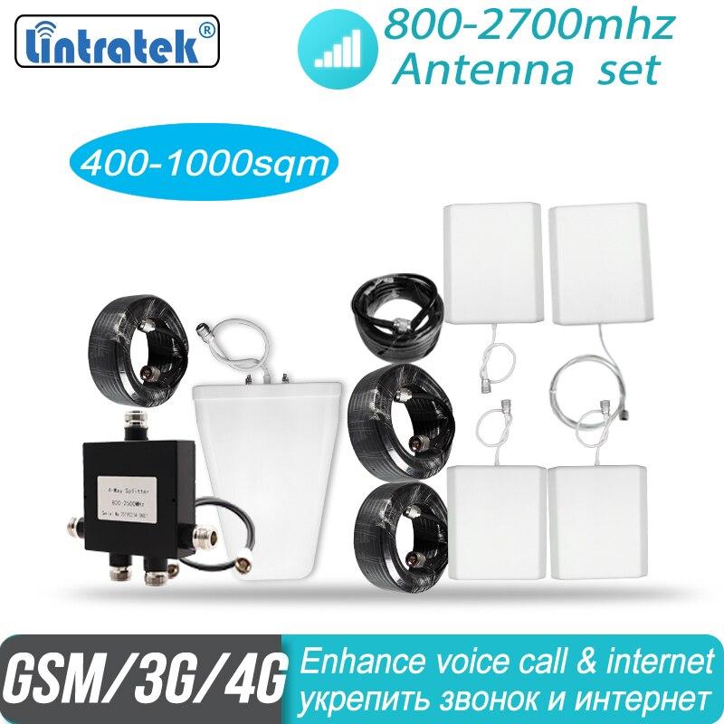 Grande antenne de couverture 2g 3g 4g réglée avec 4 antennes d'intérieur pour 800 mhz-2700 mhz amplificateur de répéteur de signal de téléphone portable