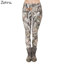 Zohra Brand Fashion Camo Branches 3D Printing High Quality Slim Legging Women Casual Home Leggings Woman Pants