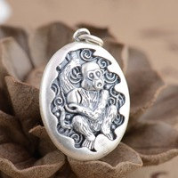 Deer King S990 Sterling Silver Pendant Jewelry Silver Antique Style Monkey Shape New Year Of Fate