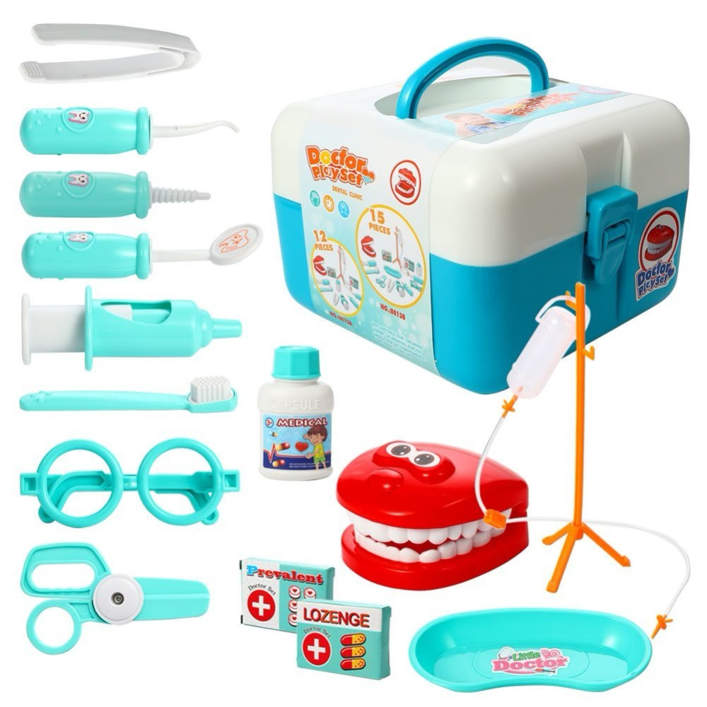 15 Pieces Doctor Play set,Pretend Play Dentist Medical Kit for Kids Holiday Gifts, School Classroom, Easter Stuffers