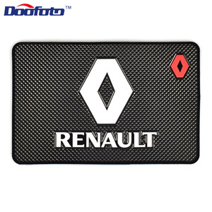 Image 2 - Doofoto alfombrilla antideslizante para salpicadero de coche, accesorio Universal, para Renault Megane 2 3 Duster Logan Clio Laguna 2, Captur