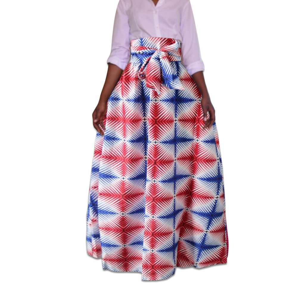 b559622c4b 2018 zip Sexy women long african skirt maxi printed Traditional africa  style lady loose skirt female