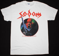 SODOM IN THE SIGN OF EVIL THRASH KREATOR VENOM HELLHAMMER NEW WHITE T SHIRT Cheap Wholesale tees,100% Cotton Tee Shirt