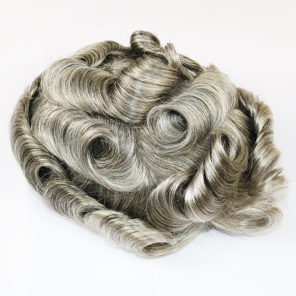 siliver wig toupee