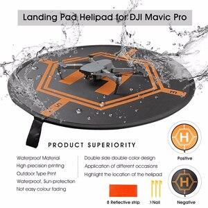 Image 1 - 80CM DJI Drone Fast fold Luminous Parking Apron Foldable Landing Pad for FIMI X8 Mavic Mini Air 2 Pro Phantom 3 4 Inspire 1 2