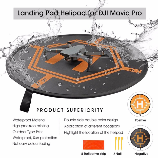 80CM DJI Drone Fast fold Luminous Parking Apron Foldable Landing Pad for FIMI X8 Mavic Mini Air 2 Pro Phantom 3 4 Inspire 1 2