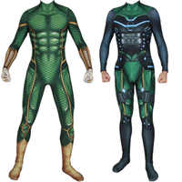 Spider Man Far From Home Mysterio Spiderman Cosplay Costume Quentin Beck Zentai Bodysuit Suit Jumpsuits