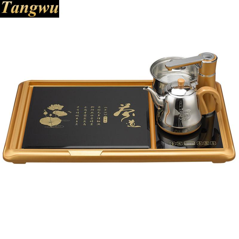Tea sets home electromagnetic tea stove. table ceremony tea. tray. Electric kettle 1 bag of square tungsten solide carbide end mill cutter for cnc milling machines free shipping