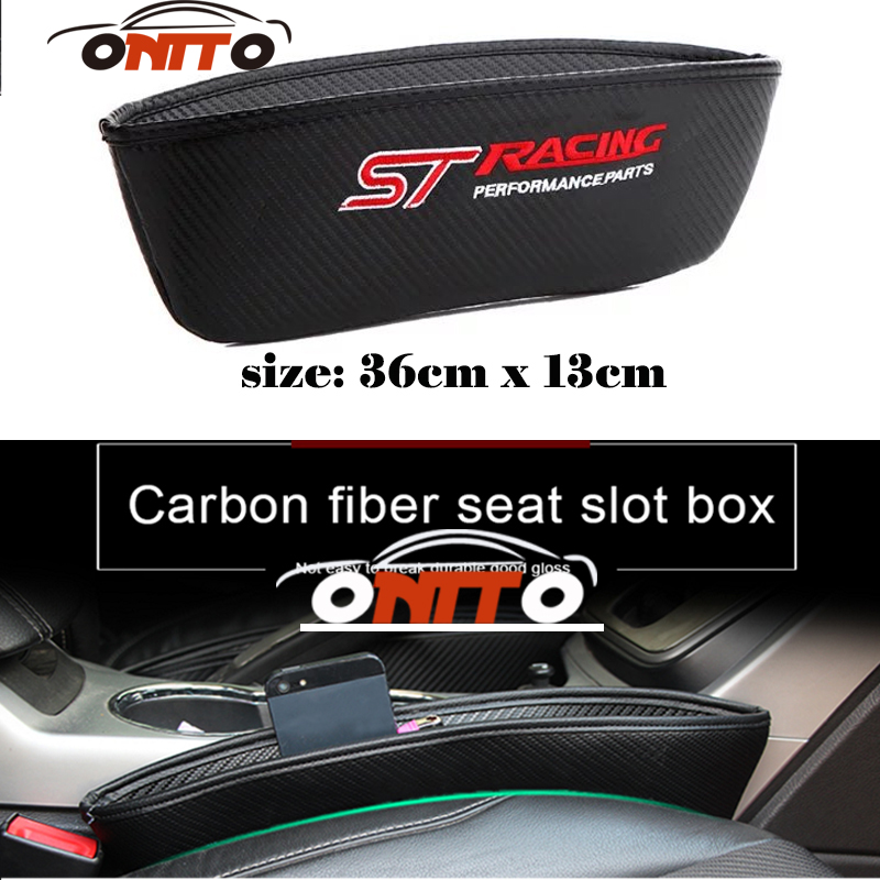 New Arrived For Mondeo Kuga Fiesta ST LOGO Catch Catcher Seat Slot Clearance Pocket Store Glove Organizer Slot Box