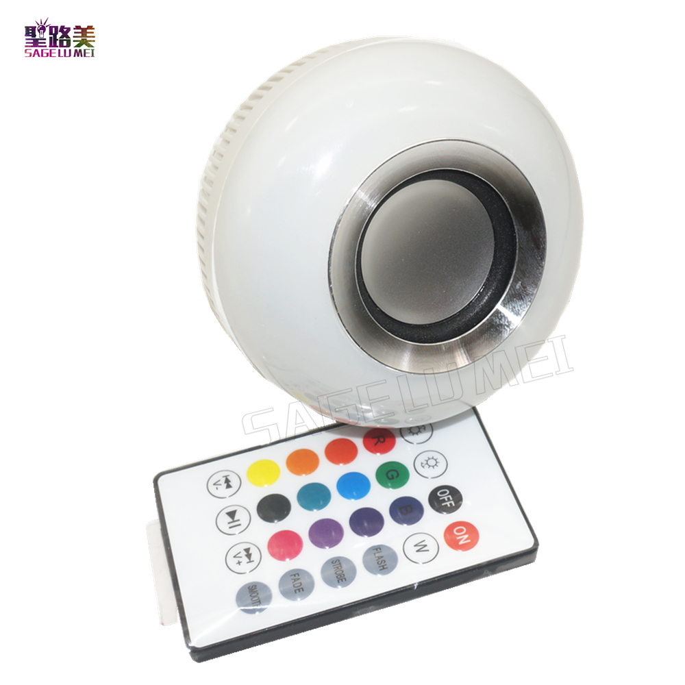 Wireless Bluetooth Speaker Bulb E27 Smart RGB RGBW Dimmable LED Music Bulb Player Audio Light Lamp with 24 Keys Remote Control kmashi led flame lamp night light bluetooth wireless speaker touch soft light for iphone android christmas gift mp3 music player