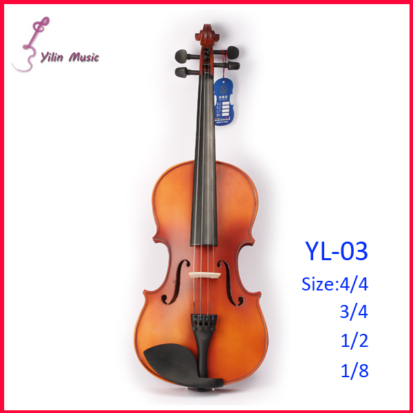 Solid Wood Violin Free Shipping Violin with Size 1/4 3/4 4/4 1/2 1/8 Violin Sent with Bow Rosin and Case 1 4