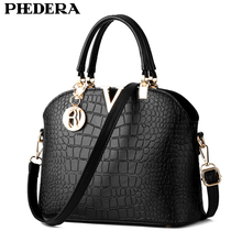 Fashion Alligator Pattern Women Leather Handbags Black Tote Bags Summer Hand Bag Crocodile Female Pouch Ladies Purse 2017 Hot