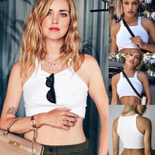 2018 New Fashion Women Tops Summer Girl Sleeveless Tank Top Casual Vest Sexy Lady Off Shouler Strap Crop Tops White(China)