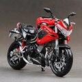Benelli TNT R160 Красный мотоцикл модель 1:12 масштаб металл литья под давлением модели мотоцикл миниатюрный гонки Игрушка Для Подарочный Набор