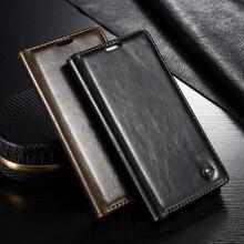 Huawei P8 облегченная Чехол уникальным металлическим логотипом Оригинальный Роскошный кожаный бумажник Магнит флип чехол для Huawei Ascend P8 Lite/ Mini 5.0 «дело