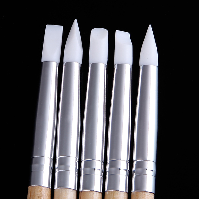 5 in 1 Soft Silicone Nail Art Carving Set