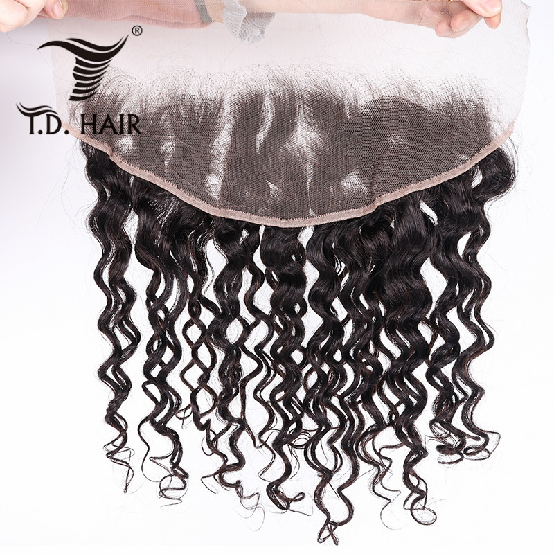 Tdhair Peruvian Natural Wavy Swiss Lace Frontal Free Part Ear To Ear Lace Front Closure 100% Human Hair