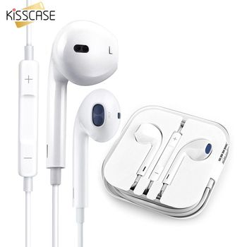 KISSCASE Volume Control Earphones Wire Earphone for Phone Music Earbuds Stereo Game headphones with Microphone for Xiaomi Huawei