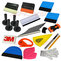 20Pcs Car Window Vinyl Film Wrap Application Tool Kit 3M Wool Pro Tint Squeegee Lil Chizler