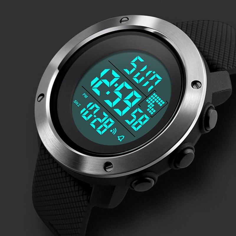 Analytisch Männer Sport Uhren Frauen Doppel Zeit Digitale Armbanduhren 50 Mt Wasserdicht Led-anzeige Uhr Relogio Masculino Skmei 2018