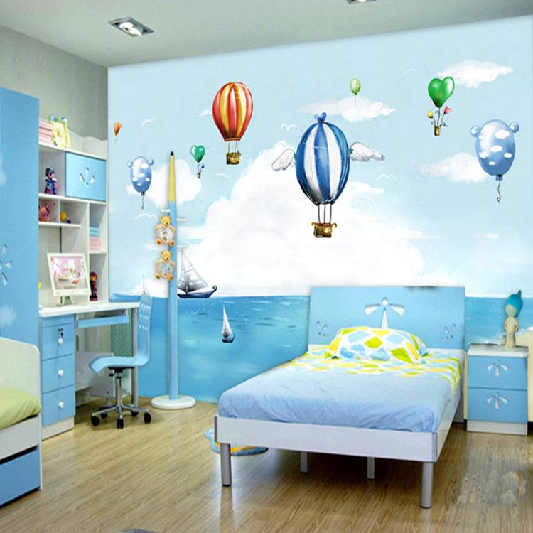 Mural wallpaper of bedroom children's room background wall ...