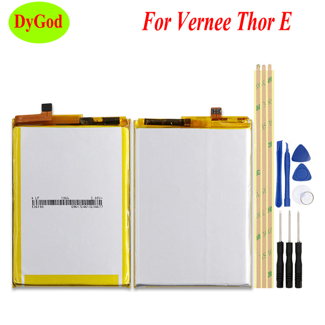 DyGod 5020mAh Battery MTK6753 For Vernee Thor E Battery High Quality Replacement Bateria Smart Phone For Vernee Thor E