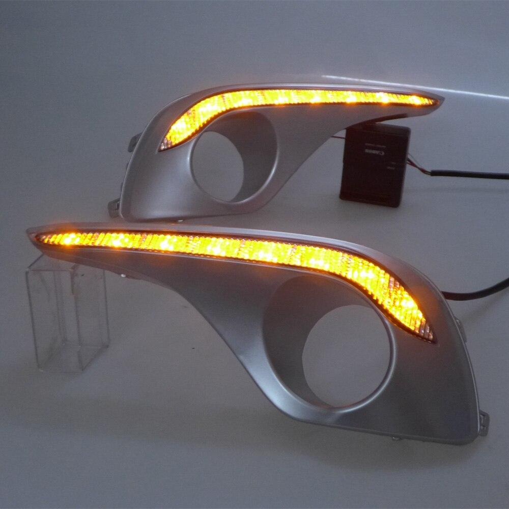 Car DRL kit for Toyota Highlander 2012 2013 2014 2015 LED Daytime Running Light daylight for car led drl light 12V