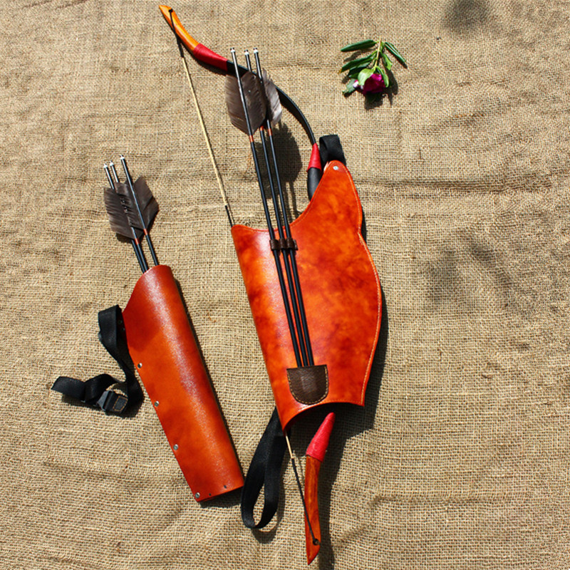 Leather Archery Quiver Arrow Shooting Hunting Bag For Bow And Arrow Compound Recurve Bow Bag Arrows Holder