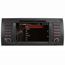 7″ HD Capacitive Touch Screen Car DVD Player GPS Navigation for BMW E39 E53 X5 Bluetooth Radio RDS USB IPOD with Original BMW UI