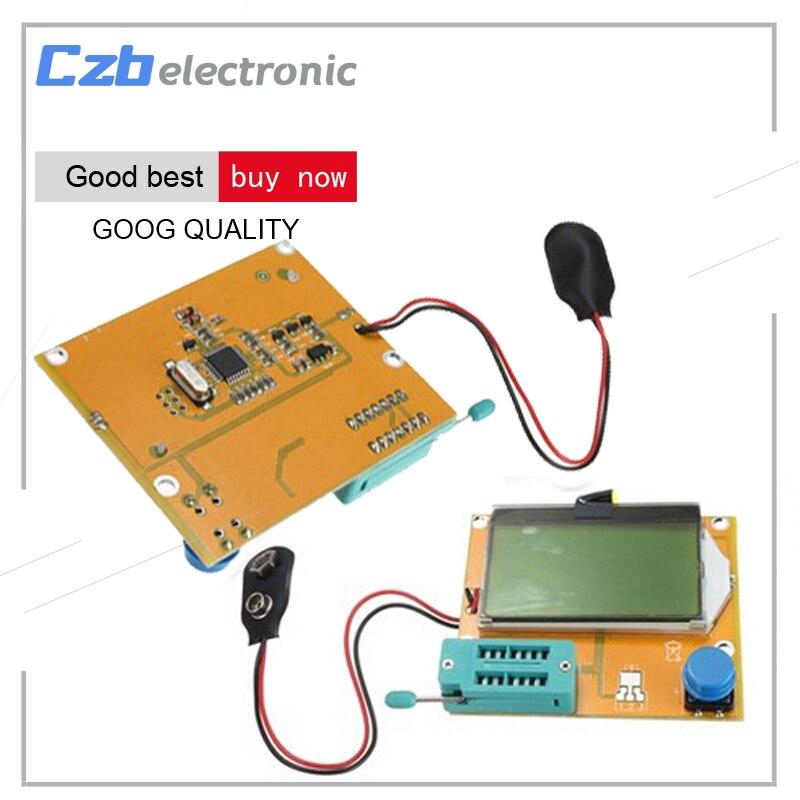 LCR-T4 Mega328 M328 Multimètre LCD Rétro-Éclairage Transistor Testeur de Diodes Triode Capacité ESR Mètre 12864 Affichage MOS PNP NPN LCR