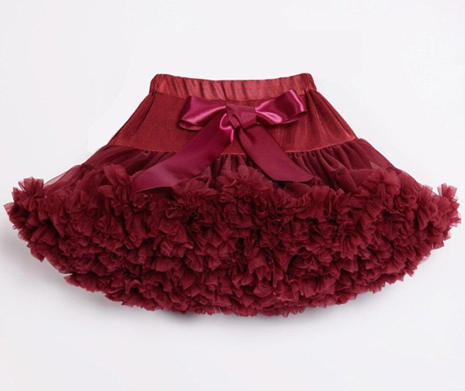 Детские Нижние юбки для девочек юбка-пачка Нижняя юбка для девочек девочки пачки, миниатюрные юбки шифоновая юбка воздушная юбка подростковая одежда для девочек - Цвет: wine red