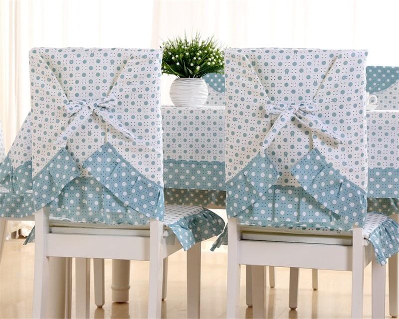 conjunto de pano de mesa capa cadeira