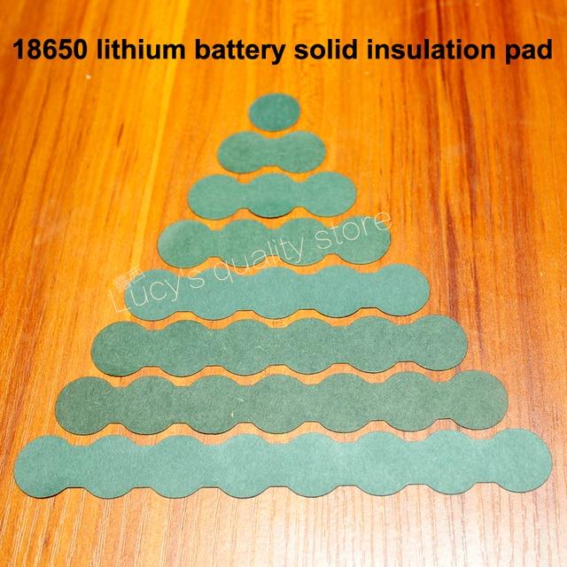 100 ชิ้น/ล็อต 18650 แบตเตอรี่อุปกรณ์เสริม Solid ฉนวนกันความร้อนแผ่น 2/3 หมึกถังสีเขียวเปลือกกระดาษ Diy
