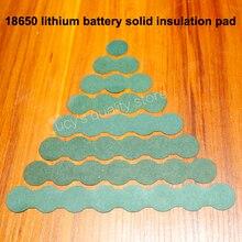 100 cái/lốc 18650 Bộ Pin Phụ Kiện Chắc Chắn Miếng Lót Nồi Cách Nhiệt Mực 2/3 Thùng Xanh Vỏ Giấy DIY Phụ Kiện