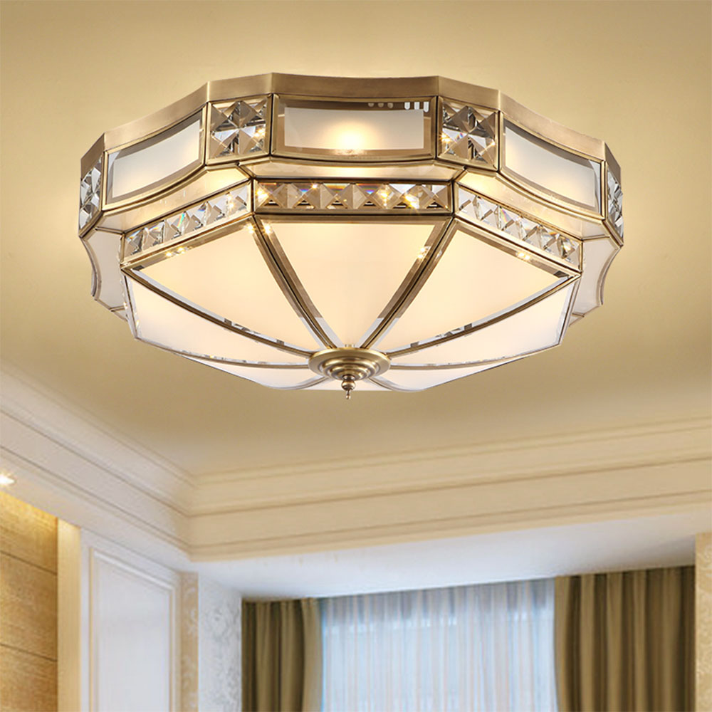 Led Ceiling Light Luminarias Retro Ceiling Lights Flush Mount Ceiling Light Copper Modern Led Ceiling Lights for Living Room цена 2017