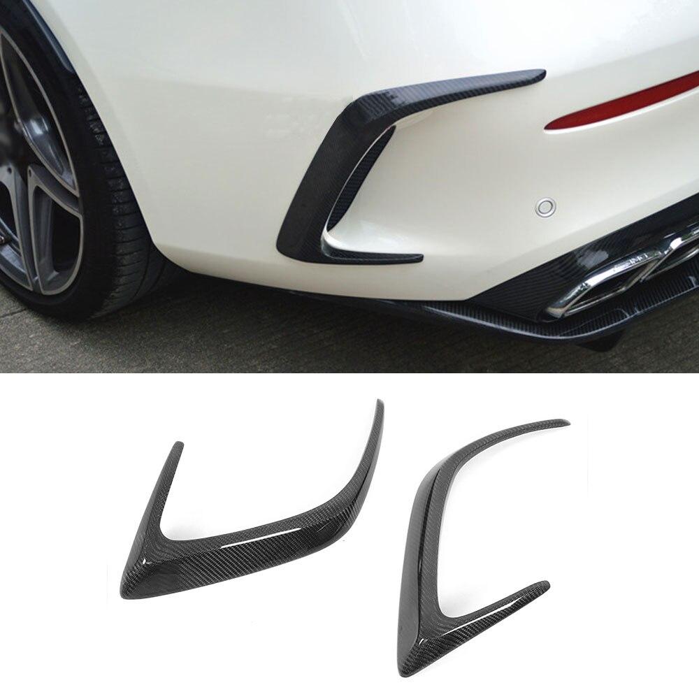 C Class Carbon Fiber /FRP Black Rear Bumper Trims Side Vents Spoiler for Mercedes Benz W205 C63 AMG C200 C260 C300 Coupe 15-17